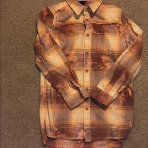 Art class yellow bleached flannel size M 8/10!